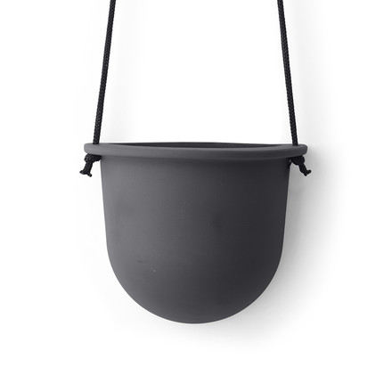 The Hanging Vessel Ceramic Planter by Menu in carbon