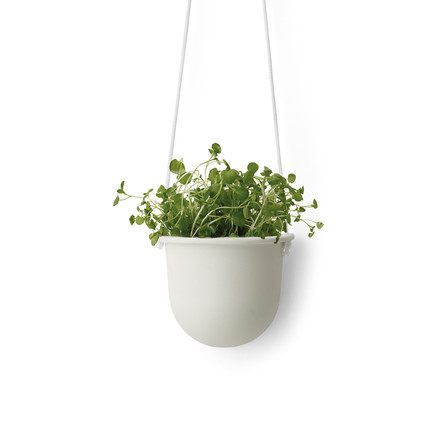 The Hanging Vessel Ceramic Planter by Menu in white