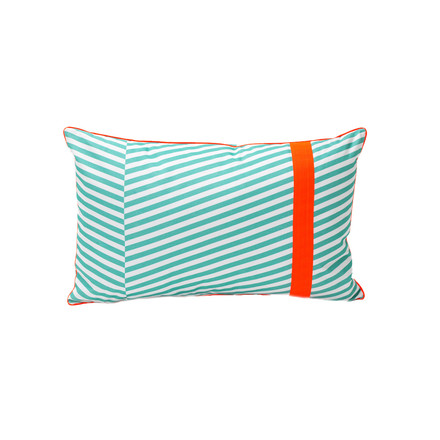 Fermob - Outdoor Cushion Cabourg, lagoon blue