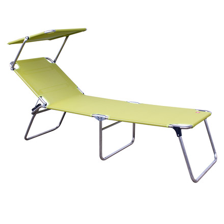 Fiam - Amigo Fourty-Sun Three-leg Lounger with Sunshade, pistachio
