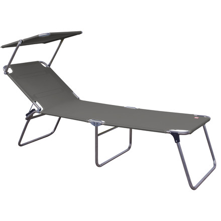 Fiam - Amigo Fourty-Sun Three-leg Lounger with Sunshade, grey