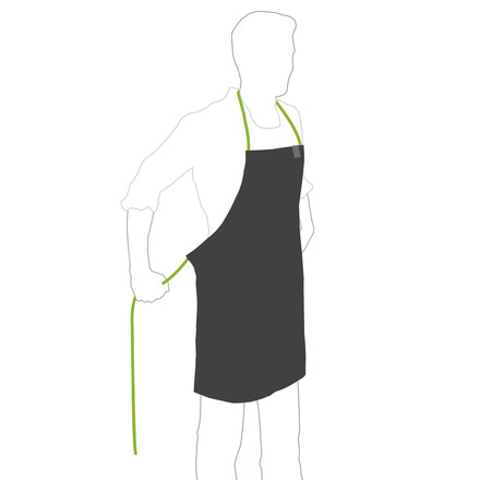 Barbecue Apron by Höfats in black / green