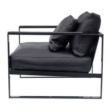 Monaco Lounge Chair by Röshults in black with black leather