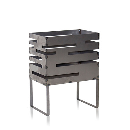 Urban fire basket 50 from Röshults made from untreated steel