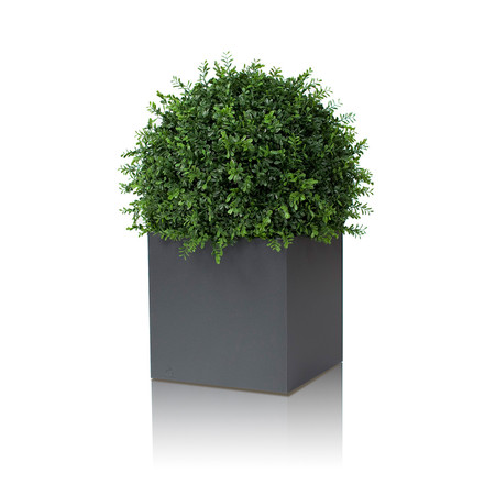 Linné Planting Pot, 50 x 50 x 50 cm by Röshults in anthracite