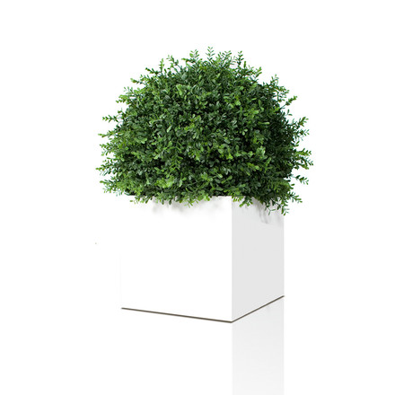 Linné Planting Pot 50 x 50 x 50 cm by Röshults in white