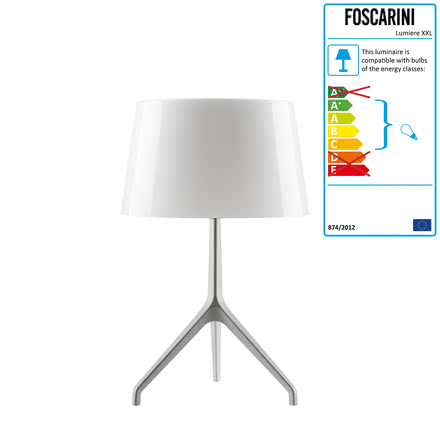 Foscarini - Lumiere XXS Table lamp, aluminium / white