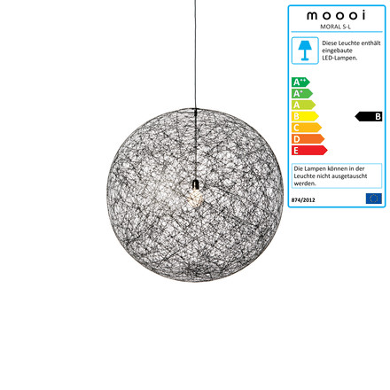 Moooi - Random Light LED Suspension Lamp, large, black