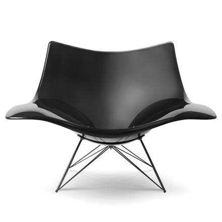 Stinggray Rocking Chair by Fredericia in Black