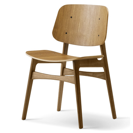 Søborg Chair by Fredericia made of smoked oak