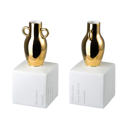 The Gedankenblitz Vasen in glossy gold, 23 cm by Rosenthal