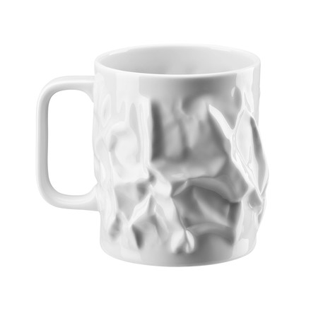 "The ""Bag vase"" mug with handle, large, 0.57 l by Rosenthal."
