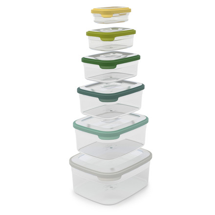Joseph Joseph - Nest Storage 6pcs. Storage Boxes Set, opal