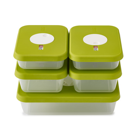 Dial Storage Container rectangular in a set of 5 by Joseph Joseph