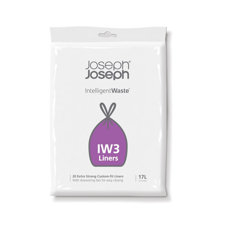 17 litres rubbish bags IW3 in the pack of 20 by Joseph Joseph