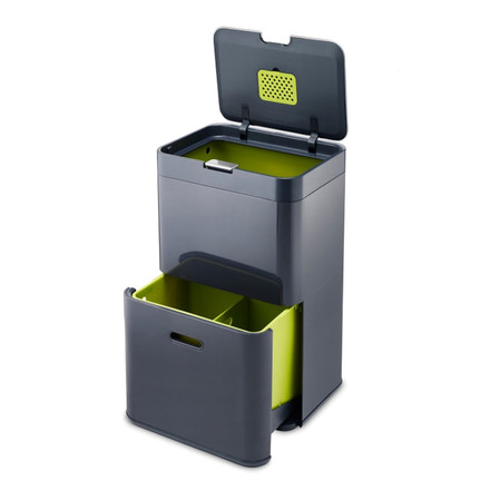 Totem 48 Waste Bin by Joseph Joseph in graphite