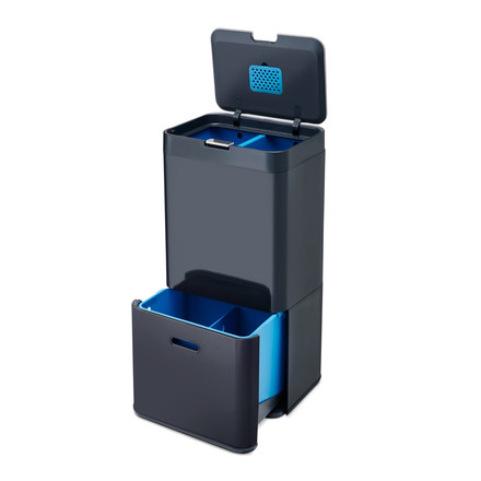 Totem 58 Waste Bin by Joseph Joseph in graphite