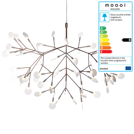 Heracleum II Suspension Lamp by Moooi in copper
