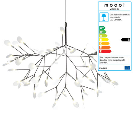 Heracleum II Suspension Lamp by Moooi in nickel
