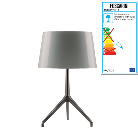 Foscarini - Lumiere XXS Table Lamp, aluminium / grey