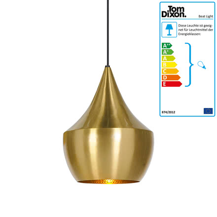 Beat Light Fat Pendant Lamp by Tom Dixon made of brass