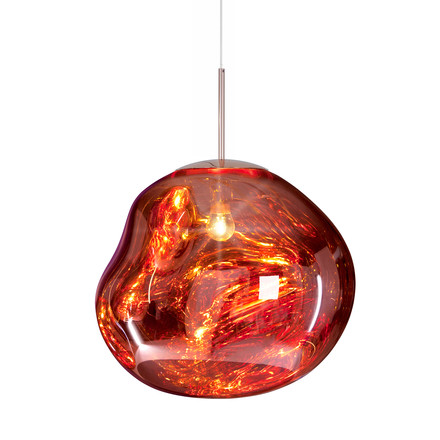 Melt Suspension Lamp by Tom Dixon in copper