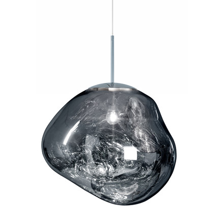 Melt Suspension Lamp by Tom Dixon in chrome