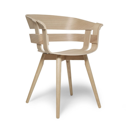 The Wick Chair Wood in natural oak by Design House Stockholm