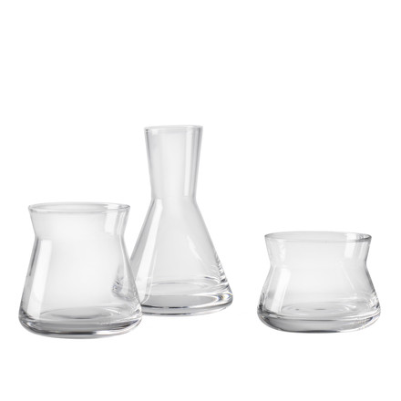 Trio Vases by Design House Stockholm made of clear glass