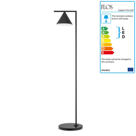 The Captain Flint LED floor lamp in black by Flos