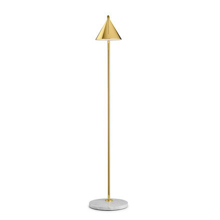 The Captain Flint LED floor lamp by Flos in brass