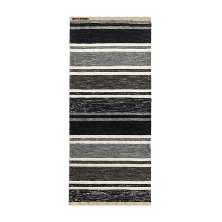 Rug Tom 75 x 160cm by Born in Sweden in shades of grey