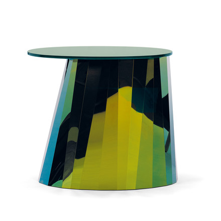 ClassiCon - Pli Side Table, topaz green shiny