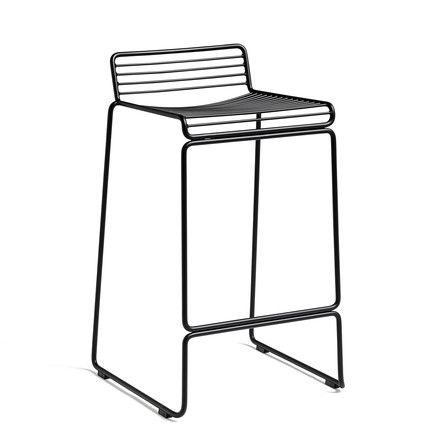 The Hay Hee Bar Stool in Black with a Seat Height of 75cm