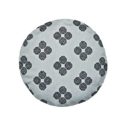 The Circular Cushion, Ø 43cm in Hana Beads grey / black by Kvadrat