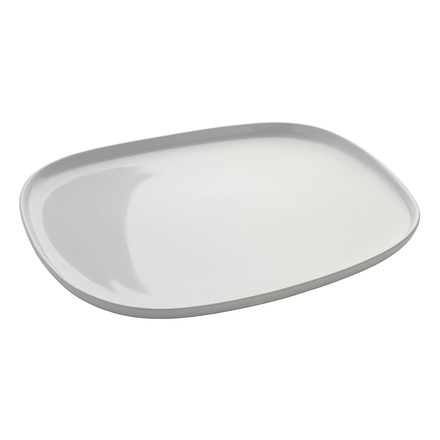 Ovale Serving Plate by Alessi in rectangular shape