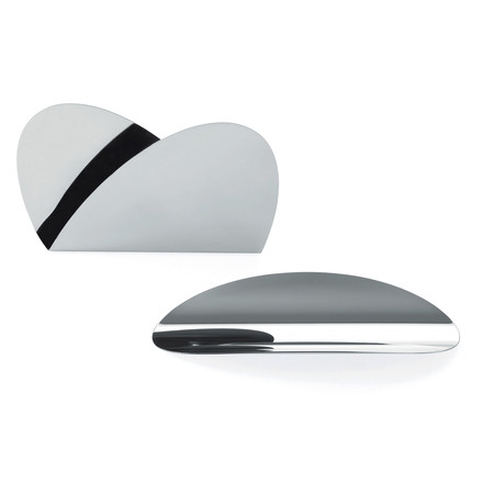 Ellipse Desk Set by Alessi in polished stainless steel