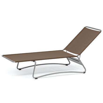 Balcony Sunlounger by Weishäupl in Batyline taupe