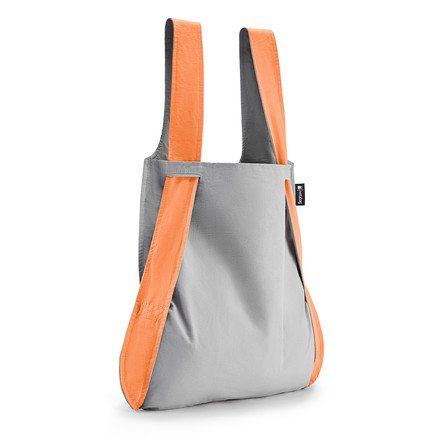 Notabag - Bag and Backpack, apricot / grey