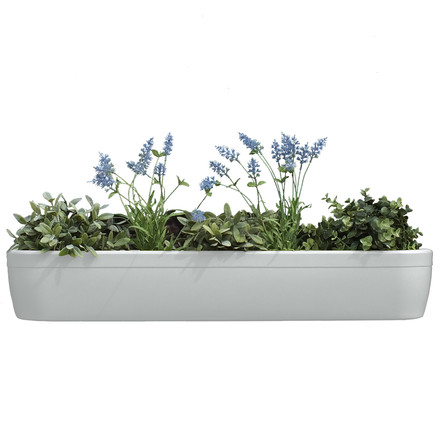 The windowgreen window sill Flower-Box by rephorm in white