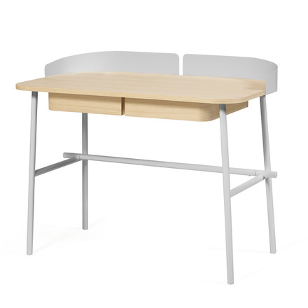 Victor Desk by Hartô in light grey (RAL 7035)
