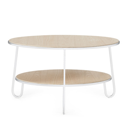 Eugénie Coffee table by Hartô in traffic white (RAL 9016)
