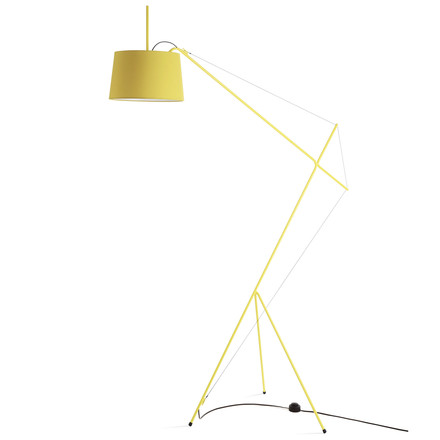 Elisabeth floor lamp by Hartô in lemon yellow