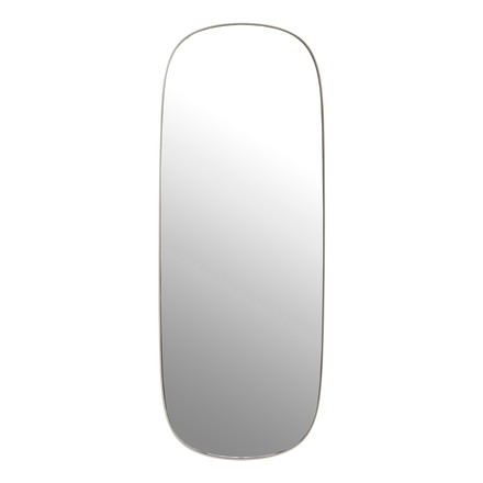 The Framed mirror, large in grey / clear glass from Mutto