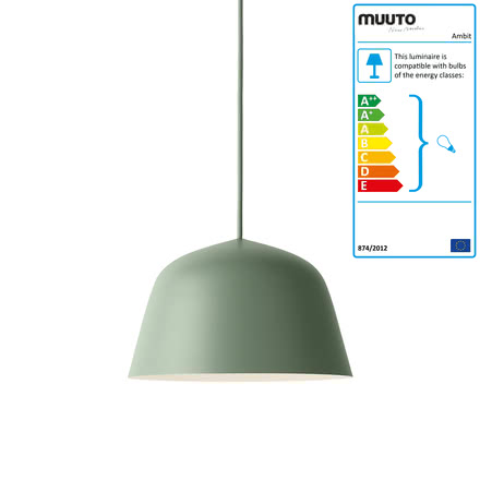 The Ambit pendant lamp Ø 25cm in dusty green by Muuto
