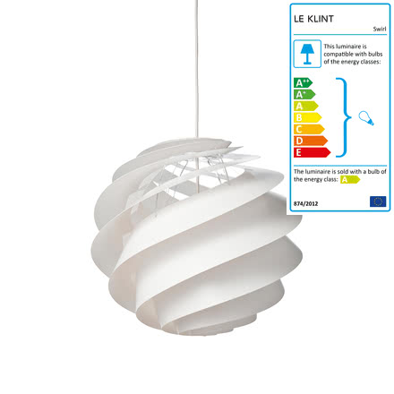 Swirl 3 pendant lamp Ø 40cm by Le Klint in White