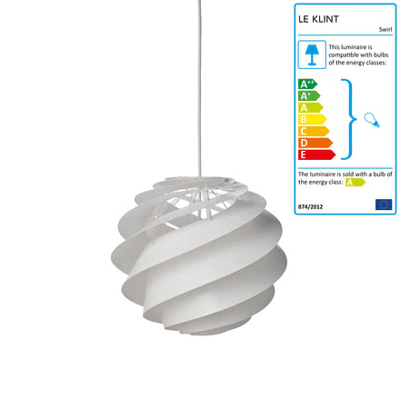 Swirl 2 Pendant Lamp Ø 32cm by Le Klint in White