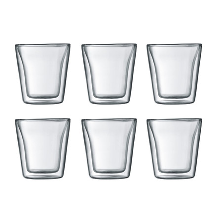 Bodum - Canteen Glass, double-walled, 0,1 l, transparent (Set of 6)