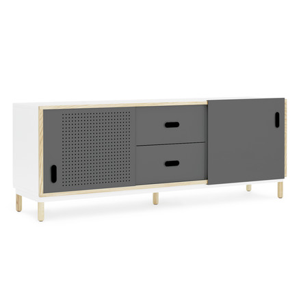 Kabino Sideboard with drawers by Normann Copenhagen in grey
