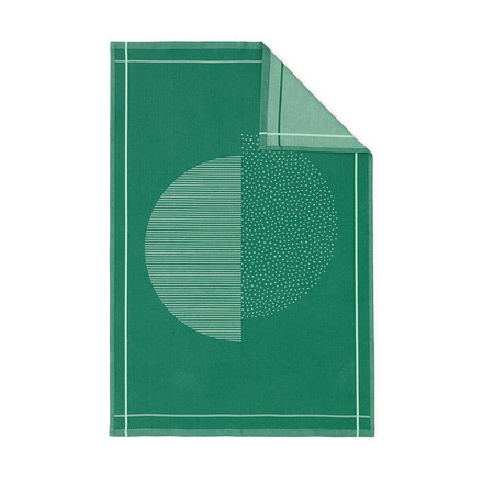 Illusion dishcloth by Normann Copenhagen in Green